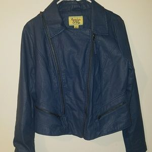 Marilyn & Me~ Dark Blue Leather Jacket